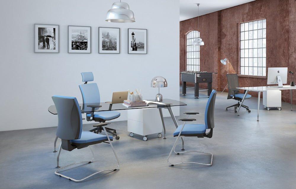 Iată un model de scaun ergonomic pentru birou foarte bun, cu mecanism asincron 6
