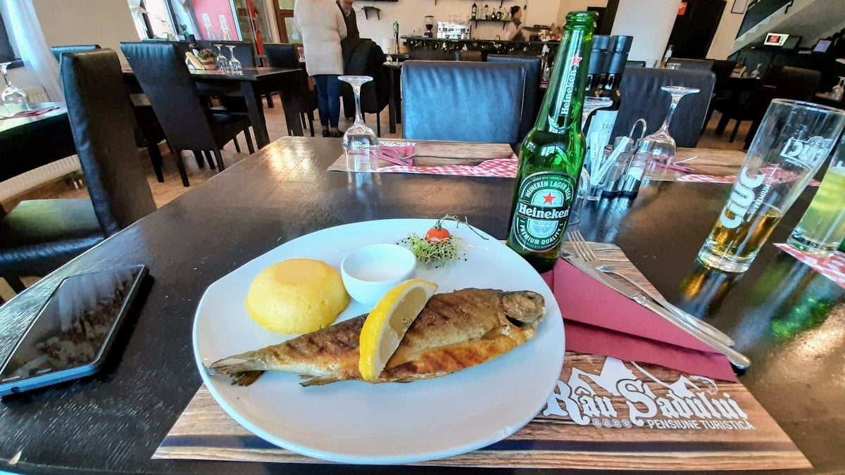 Restaurant Râu Sadului - Păstrăv la grătar